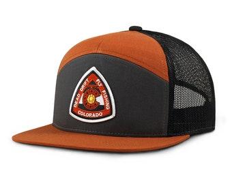 Fly Fishing Hat REEL Colorado Flat Bill Snap back Grey Rust