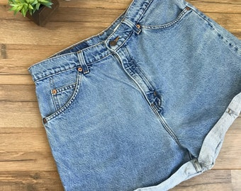 "Levi's High Waisted Jean Shorts, Vintage Levis Shorts 954, High Waist Mom Jeans Shorts 30"" waist"