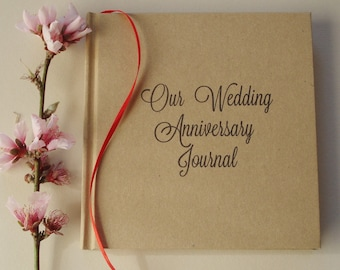 FREE SHIPPING Our First Wedding Anniversary Journal · First Anniversary Gift · Wedding Anniversary Diary Keepsake · Paper Anniversary Gift