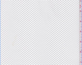 White Diamond Mesh Knit, Fabric By The Yard