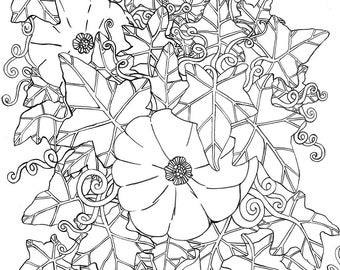 Printable Coloring Page - The Pumpkin Patch
