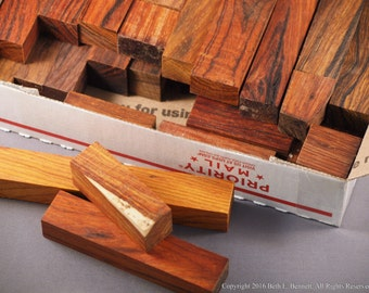Reclaimed wood scraps exotic and domestic wood raw