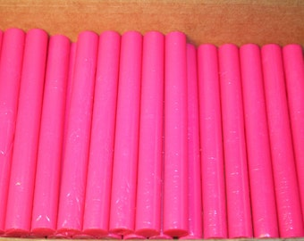 Magenta Pantone 213c flexible sealing wax sticks - NEW stock color - 10 sticks