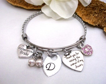 Mother-in-Law Gift, Mother of the Bride Gift, Mother in Law Jewelry, Thank you for Raising the Woman of my Dreams