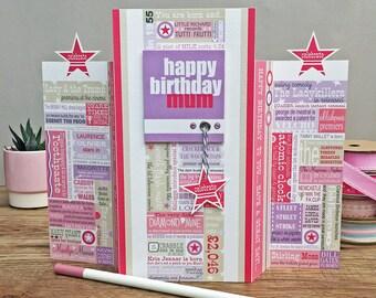 Year You Were Born Birthday Card. Pink