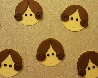 Star Wars Princess Leia 3D Edible Cupcake Toppers