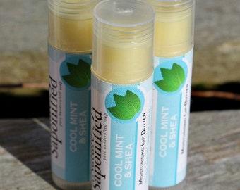 Handmade in Ireland 100% Natural Cool Mint Moisturising Lip Butter with Peppermint Essential Oils