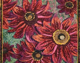 Cherry Brandy Rudbeckia Quilt Kit & Pattern