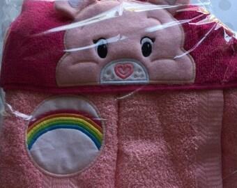 Hooded Towel  (Pink Bear)