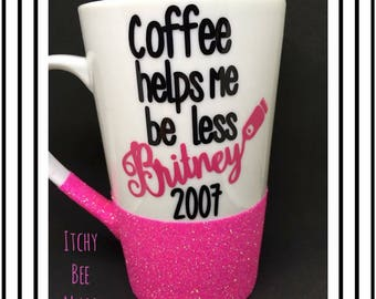 Britney Glitter Mug