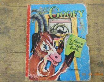 "A bonnie television book ""Goofy"" vintage childrens book"