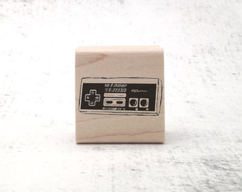 NES Gaming Stamp - Retro Rubber Stamp - Geek Pen Pal Stationary Stamp