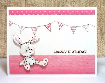Birthday Card- Happy Birthday- Girl Birthday- Kids Birthday- Toddler Birthday- Baby Birthday