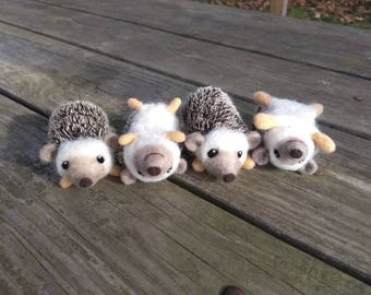 Felted Hedgehogs