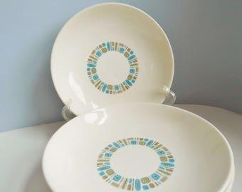 Vintage Temporama bowls 1950s Temporama salad plates Canonsburg Pottery china