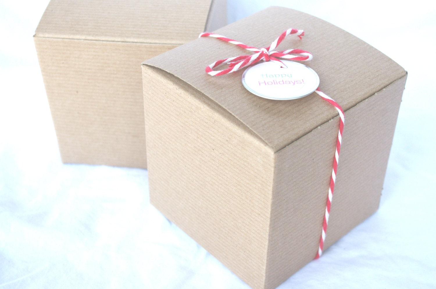 BRoWN KRaFT GiFT BoXeS-4x4x4-DIY Crafts,party favors, weddings ...