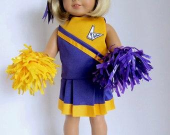 American Girl Doll: Purple and Gold Cheerleader