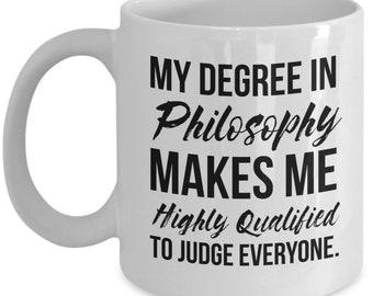 Philosophy Gift, Philosophy Mug, Philosophy Graduation, Philosophy Degree, Funny Philosophy, Philosophy Student, Philosophy Professor