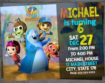 Beat Bugs Invitation, Beat Bugs Birthday Invitation, Beatbugs Invitation, Beatbug Birthday, Beat Bugs Party, Beat Bug Party