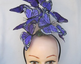 Royal Purple Monarch Butterfly Headpiece