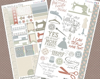 One Stitch at a Time Planner Stickers