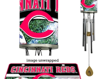 Wind Chime, Cincinatti Reds plate rolled in on the chime body