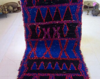 "Moroccan vintage berber rug""moroccan rug""berber rug""couloir marocain'teppich 315x110 cm"