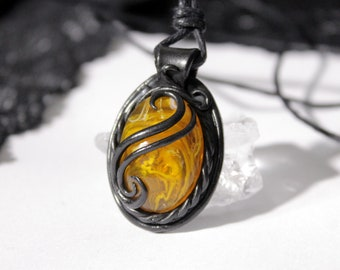 Witchtales Pendant yellow round, medieval, fantasy, goth, magic, hexe, pagan