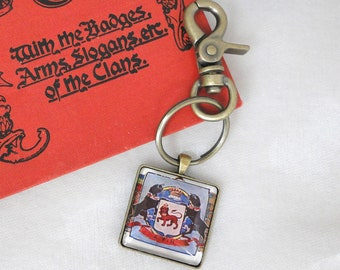 Vintage Scottish Coat of Arms  Keychain Bag Tag Key Chain - Ogilvie