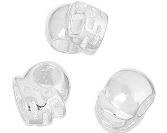 10 Silver Plated Football Helmet Euro Charm Beads (B111h2)