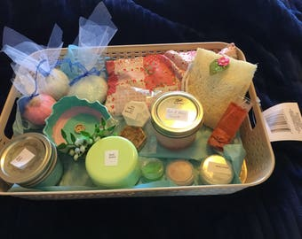 Skin care gift basket