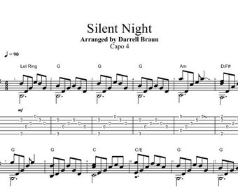Silent Night - Fingerstyle Guitar!