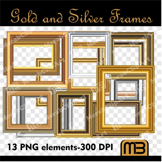 Pictures Frames PNG. Digital clip art can be used as graphic
