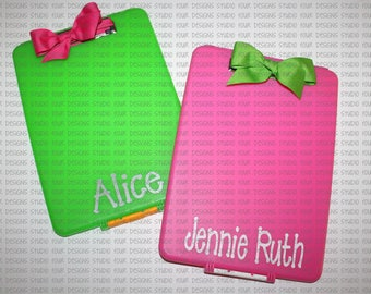 Personalized Clipboard Case -  Monogrammed Birthday Gift - Creative Christmas Gift - Sleep away Camp letters - Holiday Travel Activities