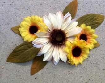 Sunflower Fascinator Hair Clip