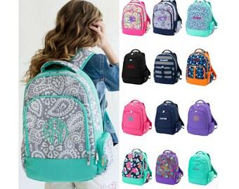 Monogrammed Backpack Personalized Bookbag Girls Boys Kids School Tote Bag Embroidered Book Bag Personalized Backpack Monogrammed Bookbag