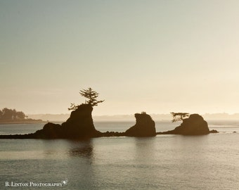 Oregon Beach Photography - Fine Art Photograph - Oregon Landscape - Water - Ocean - Landscape Photography - White Tan Blue Home Decor