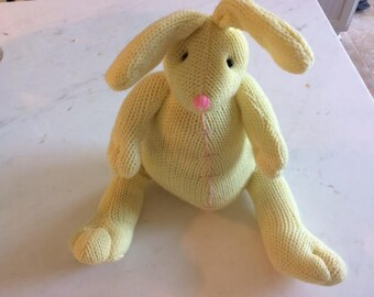 vintage yellow knit bunny