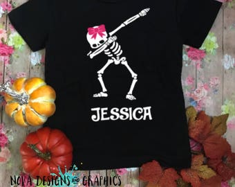 Cute skeleton and halloween personalized shirt