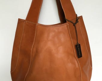 Jessica Large Saddle Leather