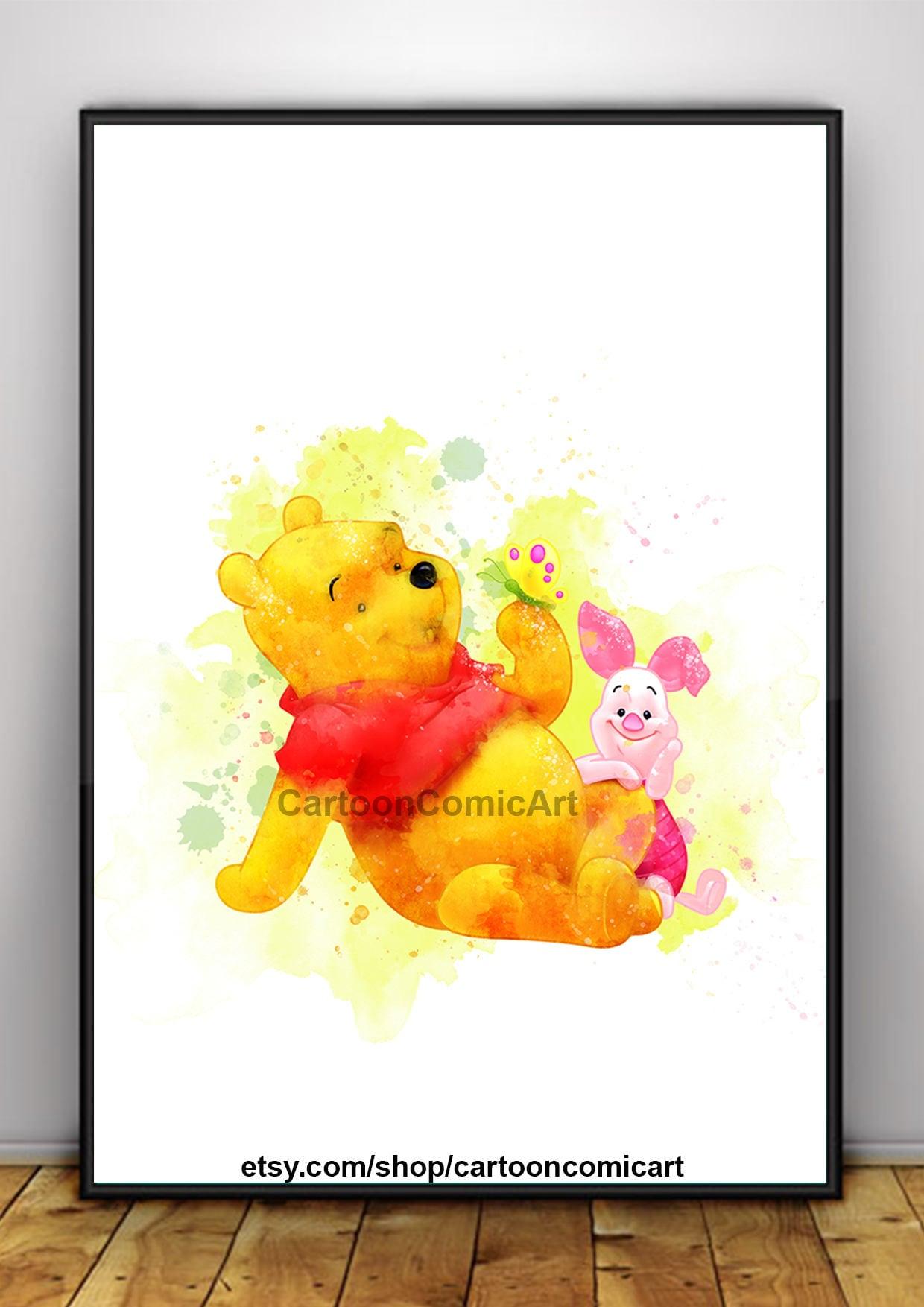 Winnie the pooh print Watercolor winnie the pooh wall Art