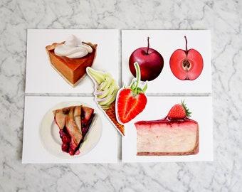 Dessert Aesthetic Postcard & Sticker Pack