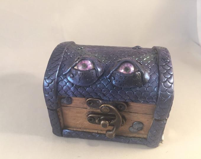 Dragon Box polymer clay Magda the Mermaid