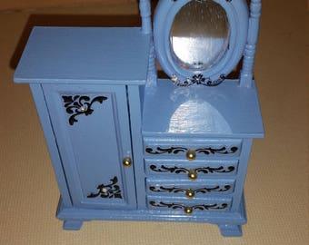 Dollhouse miniatures armoire dresser
