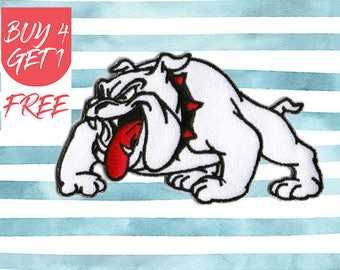 Bulldog Patches Dog Patch Iron On Patch Embroidered Patch Hound English