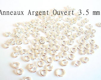 Open silver ring size 3.5 mm - rings.