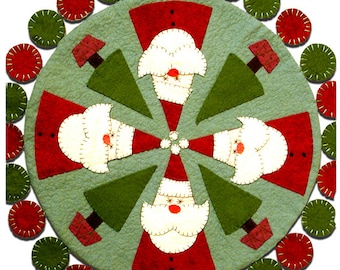 Santas Tree Farm Woolfelt Penny Rug Pattern by Cleo and Me