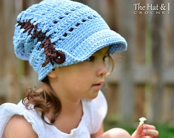 CROCHET PATTERN - Countryside Slouchy - crochet slouchy hat pattern, crochet hat pattern (Toddler Child Adult sizes) - Instant PDF Download