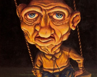 Lowbrow Pop surrealism limited edition art print by Pete Gorski titled: I'll Be Damned