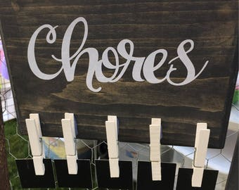 Chore Chart - Home Decor Chalkboard Sign